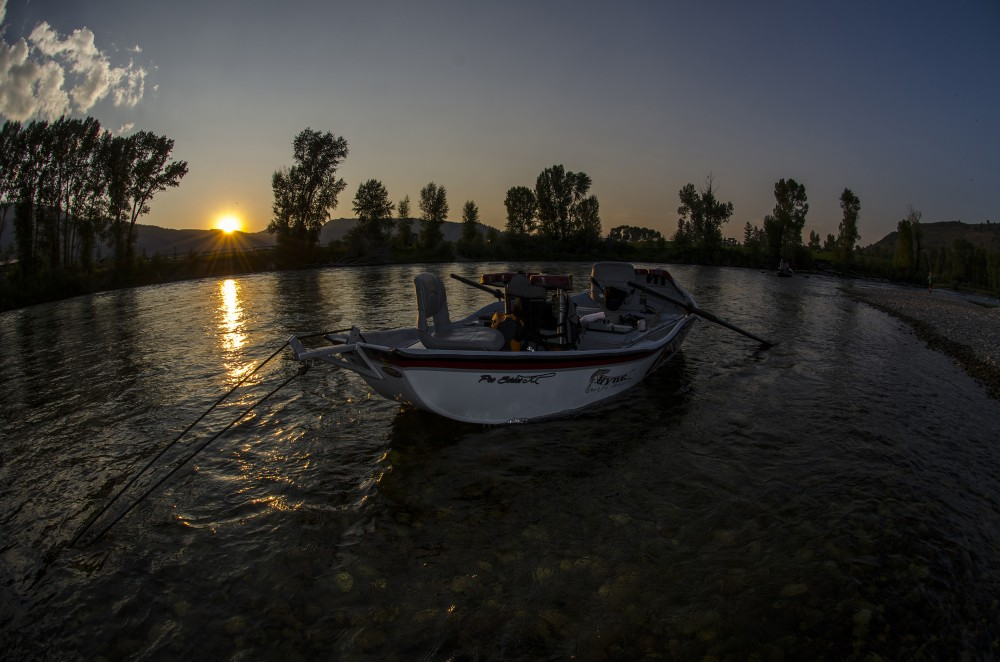 Sunset on the Snake River